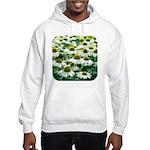 Echinacea White Coneflower Hooded Sweatshirt