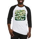 Echinacea White Coneflower Baseball Jersey