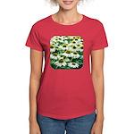Echinacea White Coneflower Women's Dark T-Shirt
