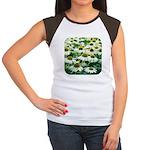 Echinacea White Coneflower Women's Cap Sleeve T-Sh