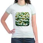 Echinacea White Coneflower Jr. Ringer T-Shirt