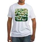 Echinacea White Coneflower Fitted T-Shirt