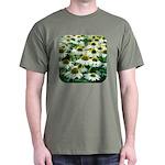 Echinacea White Coneflower Dark T-Shirt