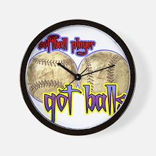 Funny Got balls tennis Wall Clock