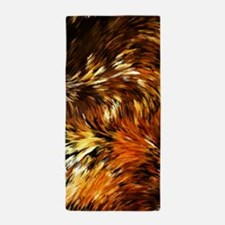 Fox Tails Abstract Beach Towel
