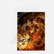 Fox Tails Abstract Greeting Cards