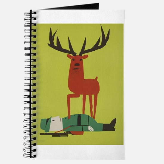 Vintage Anti Hunting Travel Poster Journal