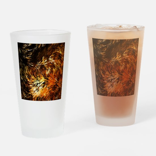 Fox Tails Abstract Drinking Glass