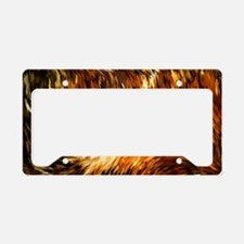 Fox Tails Abstract License Plate Holder
