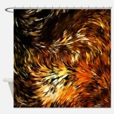 Fox Tails Abstract Shower Curtain