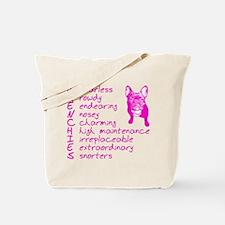 F R E N C H I E S pink Tote Bag