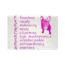 F R E N C H I E S pink Rectangle Magnet (10 pack)