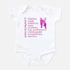 F R E N C H I E S pink Infant Bodysuit