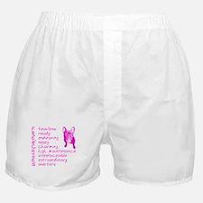 F R E N C H I E S pink Boxer Shorts