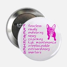 "F R E N C H I E S pink 2.25"" Button"
