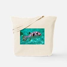 Striped Puffer Fish Tote Bag