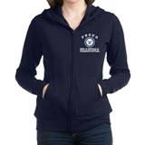 Navy grandmother Zip Hoodie
