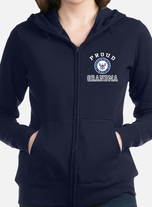 Proud US Navy Grandma Women's Zip Hoodie