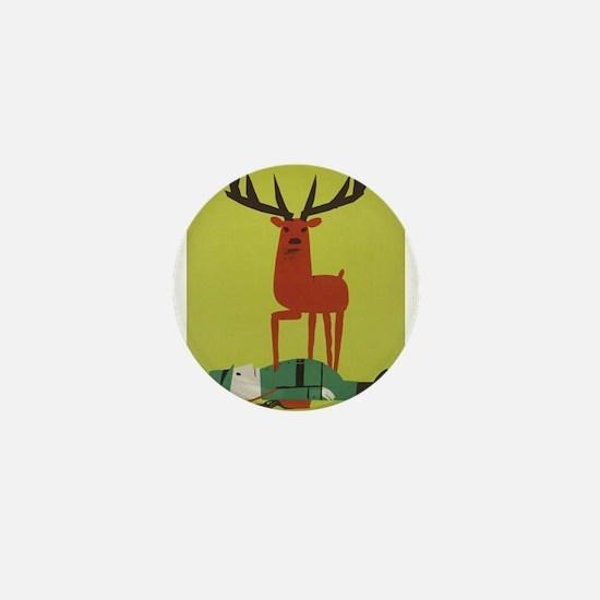 Vintage Anti Hunting Travel Mini Button (100 pack)