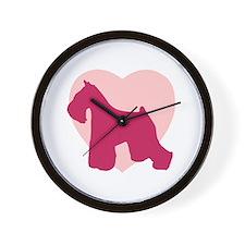 Miniature Schnauzer Valentine's Day Wall Clock