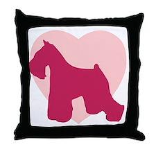 Miniature Schnauzer Valentine's Day Throw Pillow