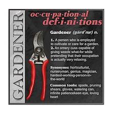 Gardener Tile Coaster