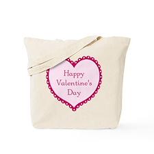 Simple Pink Heart Tote Bag