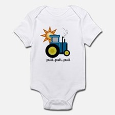 Blue Tractor Infant Bodysuit