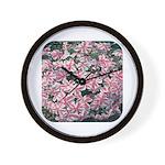 Phlox Candy Stripe Wall Clock