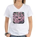 Phlox Candy Stripe Women's V-Neck T-Shirt