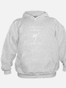 Martial Arts Weapon White Sweatshirt
