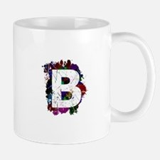 B (Ink Spots) (Black) Mugs