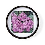Phlox Lilac Wall Clock