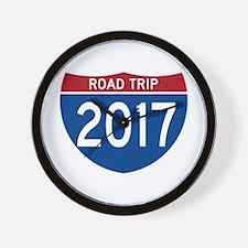 Road Trip 2017 Wall Clock