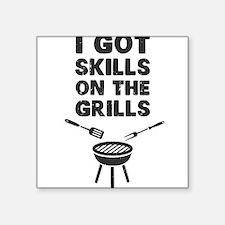 I Got Skills on the Grills Cookout BBQ Sticker