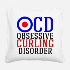 Funny Curling Square Canvas Pillow