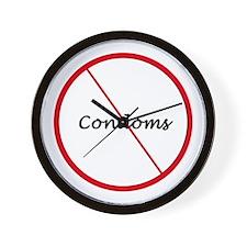 No Condoms Wall Clock