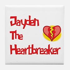 Jayden the Heartbreaker  Tile Coaster