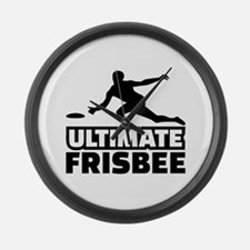 Ultimate Frisbee Large Wall Clock