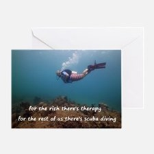 Funny Diving Greeting Card