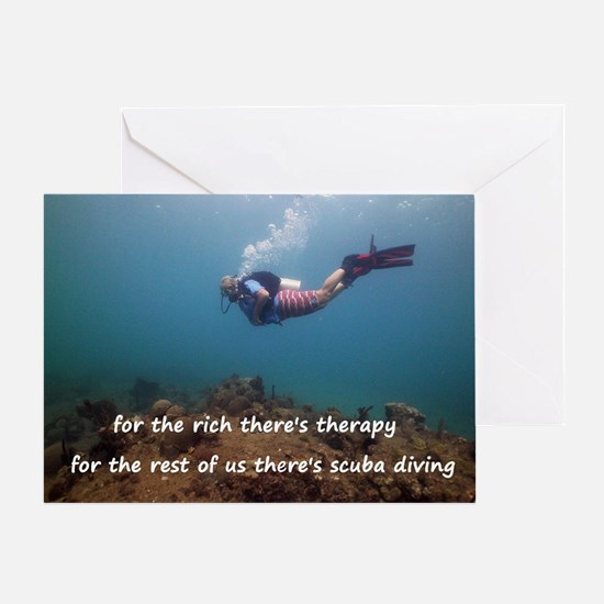 Unique Scuba diving Greeting Card