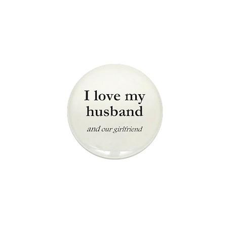 Husband/our girlfriend Mini Button (100 pack)