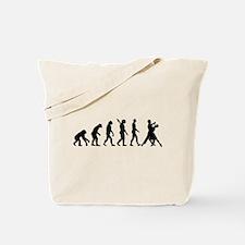 Evolution foxtrot dancing Tote Bag