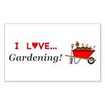 I Love Gardening Sticker (Rectangle 50 pk)