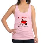 I Love Gardening Racerback Tank Top