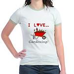 I Love Gardening Jr. Ringer T-Shirt
