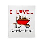 I Love Gardening Throw Blanket