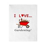 I Love Gardening Twin Duvet