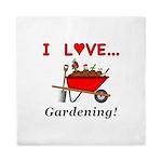 I Love Gardening Queen Duvet