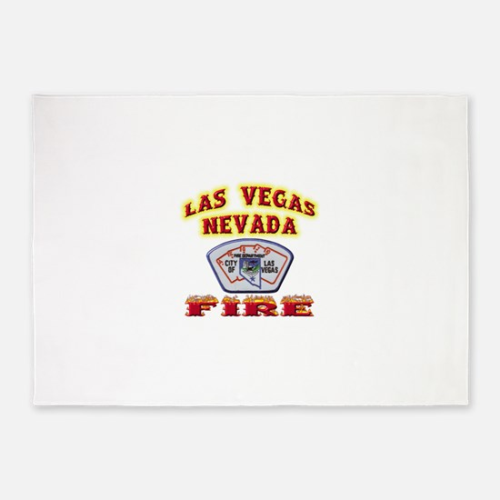 vegasfire.png 5'x7'Area Rug